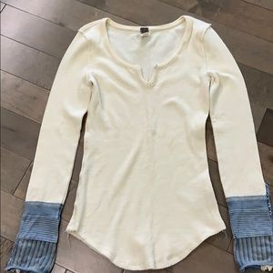Free People Kyoto Cuff thermal, Ivory